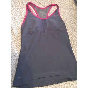 Women's Nike Tank Top with built in Sports Bra